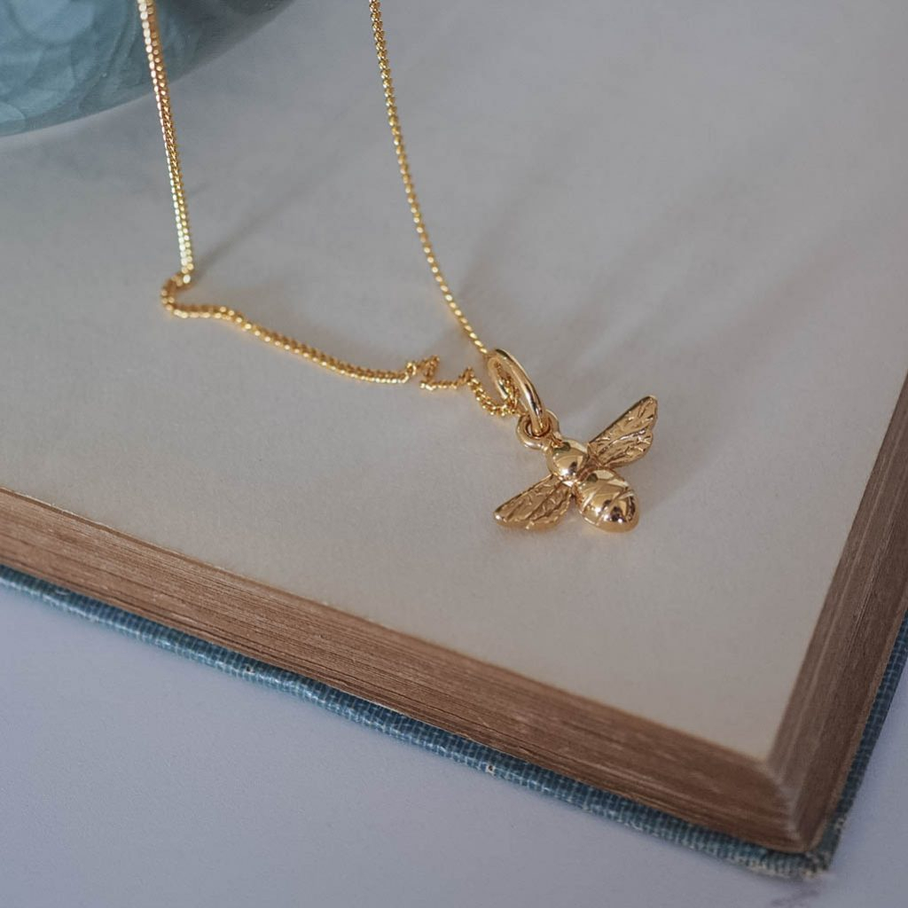 Bee Necklace In Silver Or Gold Vermeil In Most Recently Released Bee Locket Element Necklaces (View 7 of 25)