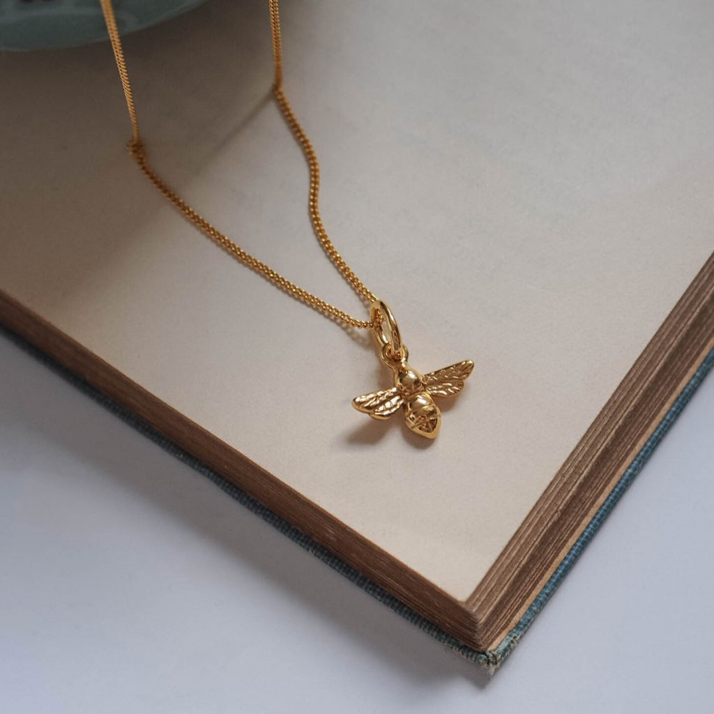 Bee Necklace In Silver Or Gold Vermeil Intended For Best And Newest Bee Locket Element Necklaces (Gallery 6 of 25)