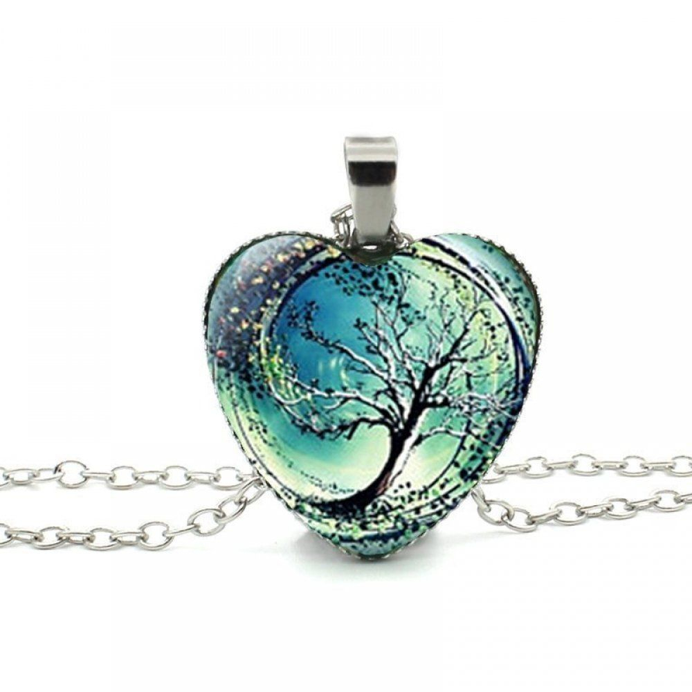 Best Divergent Tree Heart Necklace Cheap In 2019 | Heart Pendants Within Current Family Tree Heart Pendant Necklaces (View 3 of 25)