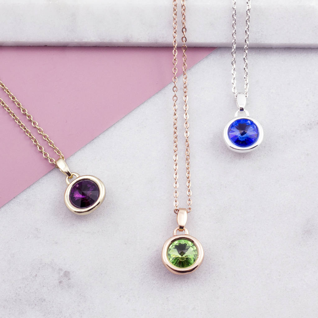 Birthstone Necklace Christmas Gift Inside Latest Purple February Birthstone Locket Element Necklaces (View 8 of 25)