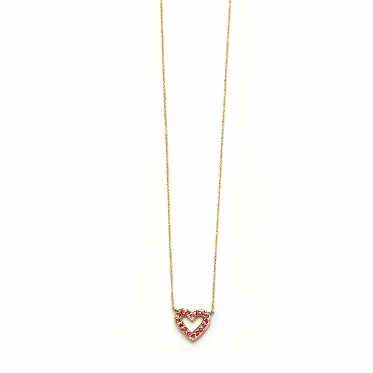 Birthstone Open Heart Necklace With 2020 Open Heart Necklaces (View 2 of 25)