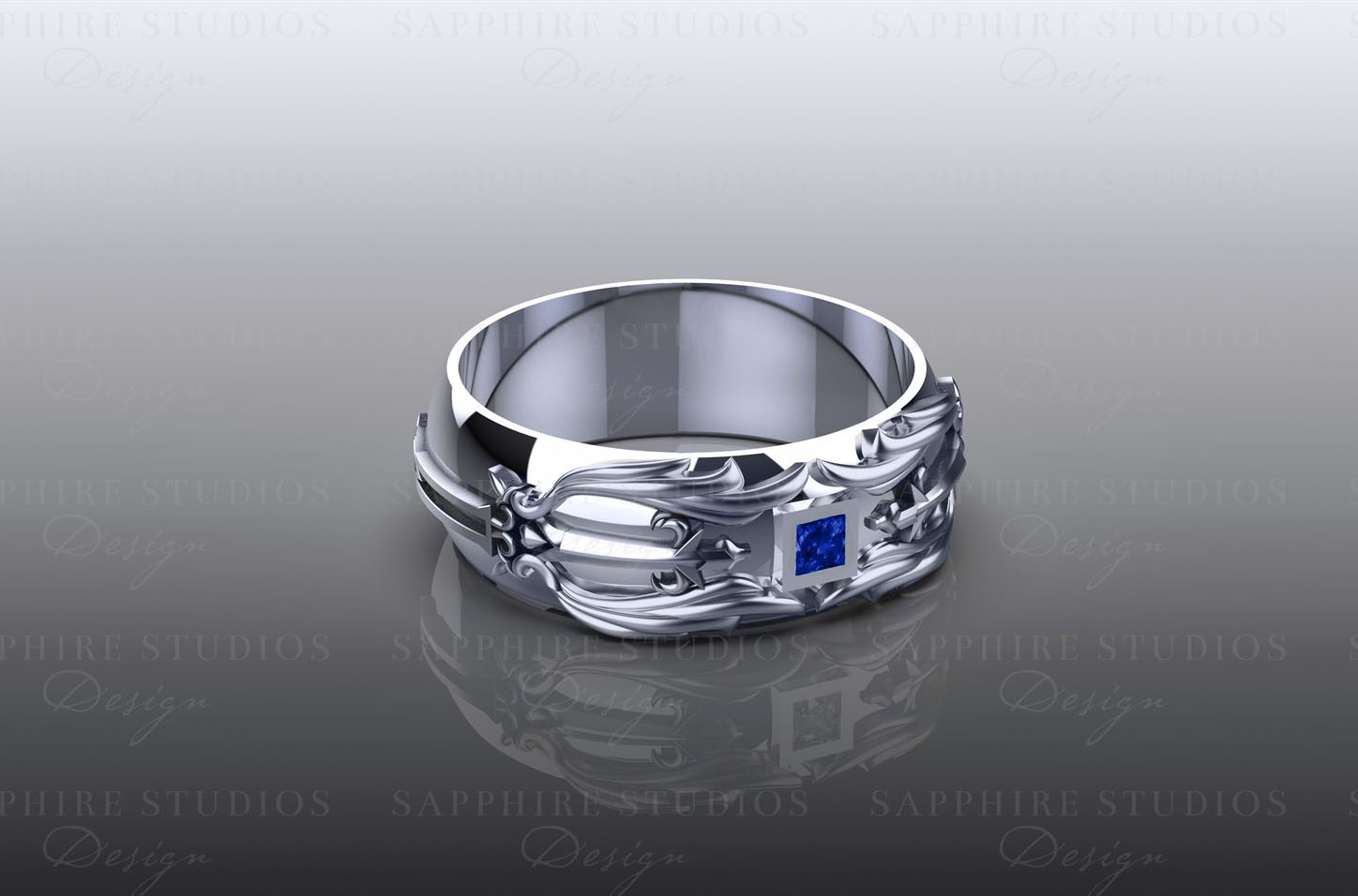 'blade' 0.10ct Sterling Silver Inspired Kingdom Hearts Band – Choose Your Stone And Metal In Most Recently Released Band Of Hearts Rings (Gallery 13 of 25)