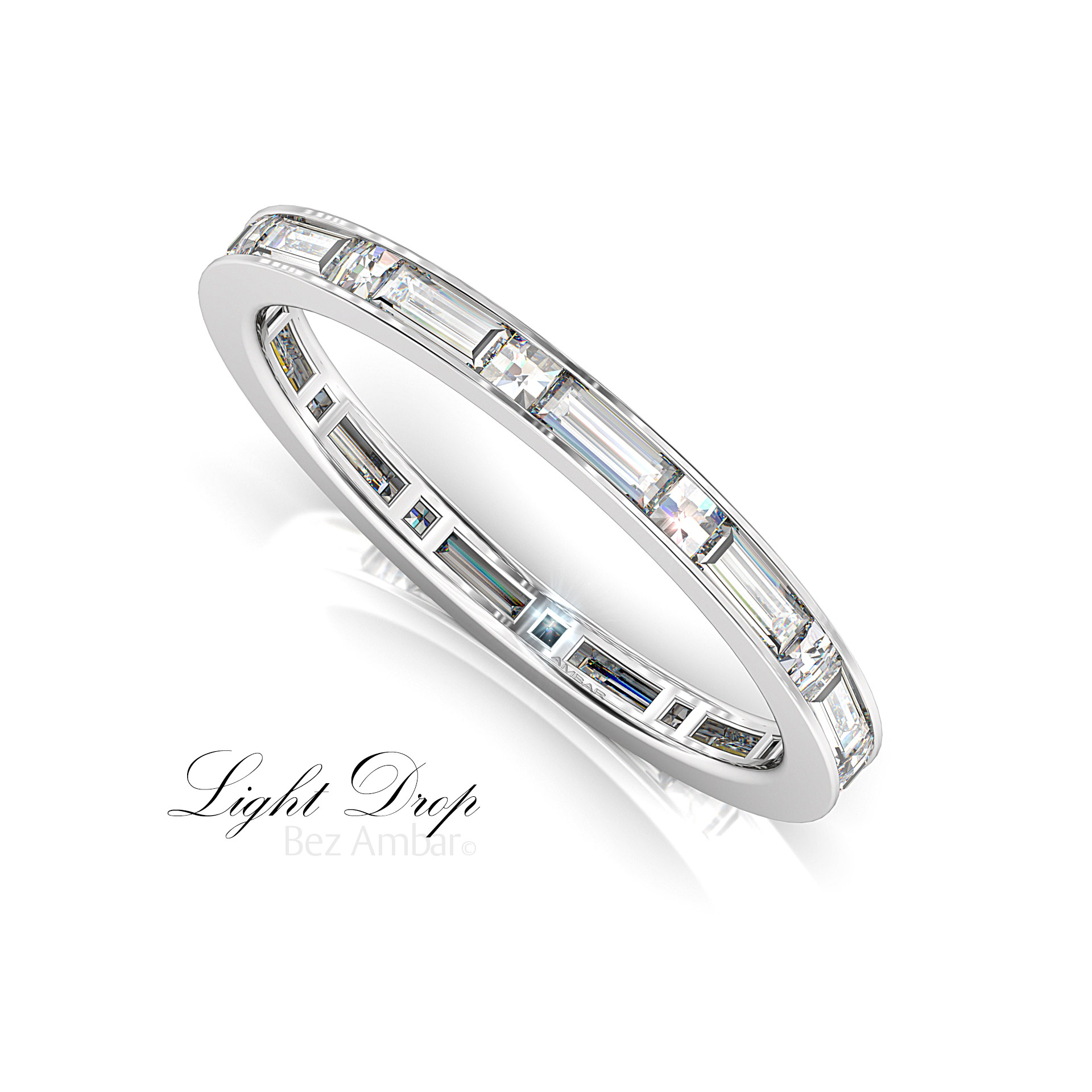 Blaze And Baguette Cut Diamond Eternity Ring For Best And Newest Baguette Diamond Anniversary Bands In White Gold (View 13 of 25)