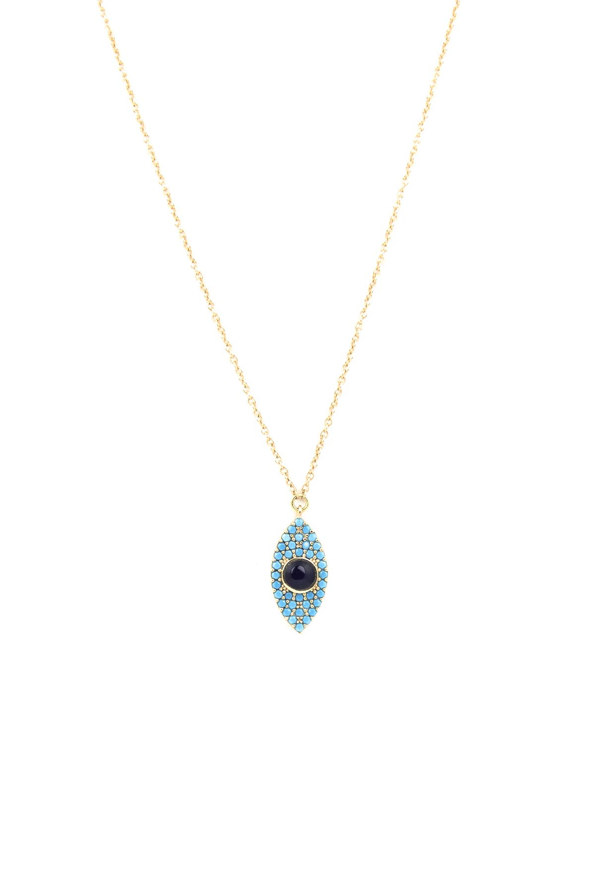 Blue Eyes – Evil Eye Necklace – Blue Eye Pendant Necklace | App Pertaining To Best And Newest Baby Blue Enamel Blue Heart Petite Locket Charm Necklaces (Gallery 19 of 25)