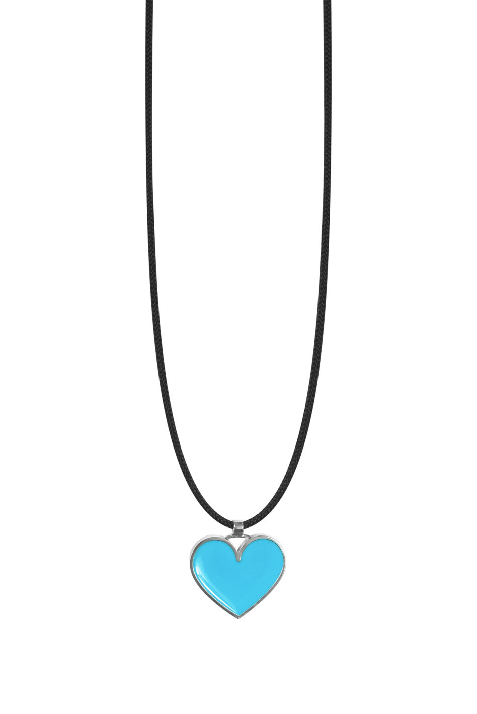 "Blue ""Great Heart"" – Love Necklace For 2020 Baby Blue Enamel Blue Heart Petite Locket Charm Necklaces (Gallery 23 of 25)"