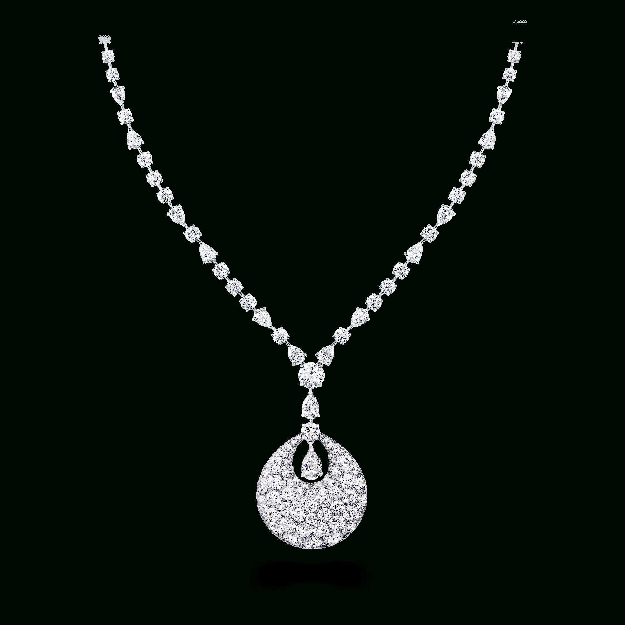 Bombé Necklace, Diamond | Graff With Regard To Most Recent Family Script Locket Element Necklaces (View 9 of 25)