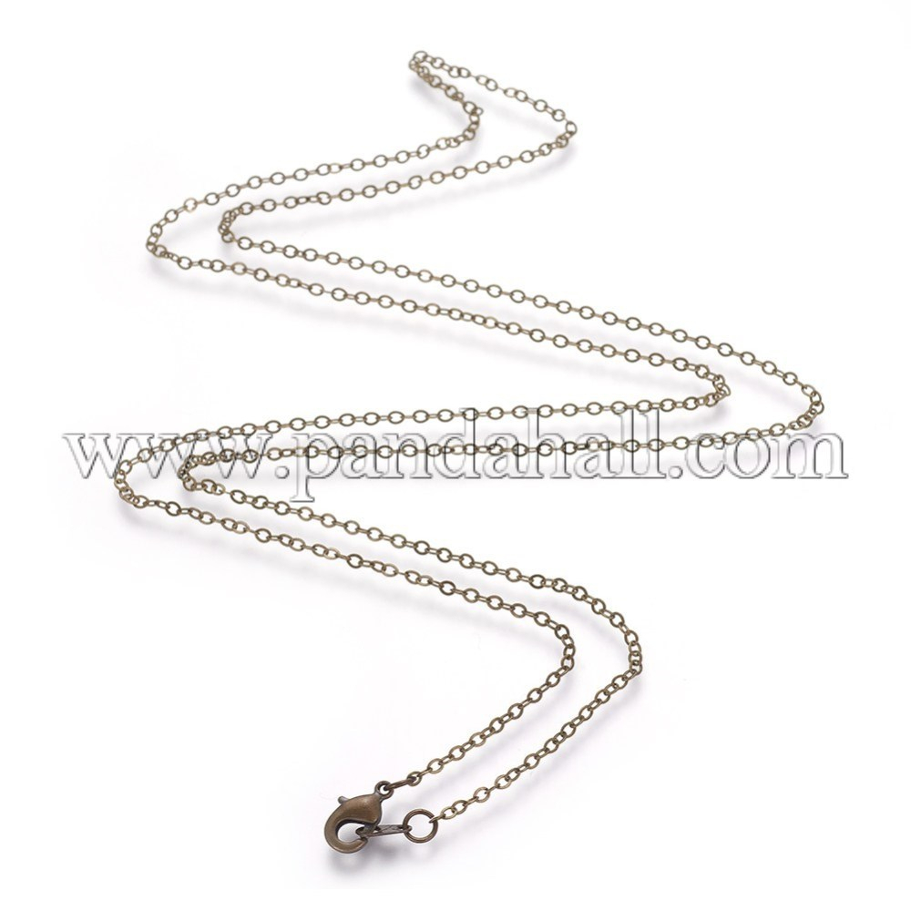 """Brass Cable Chain Necklace Makings, Antique Bronze, 26"""" Inside Most Popular Long Link Cable Chain Necklaces (View 7 of 25)"""