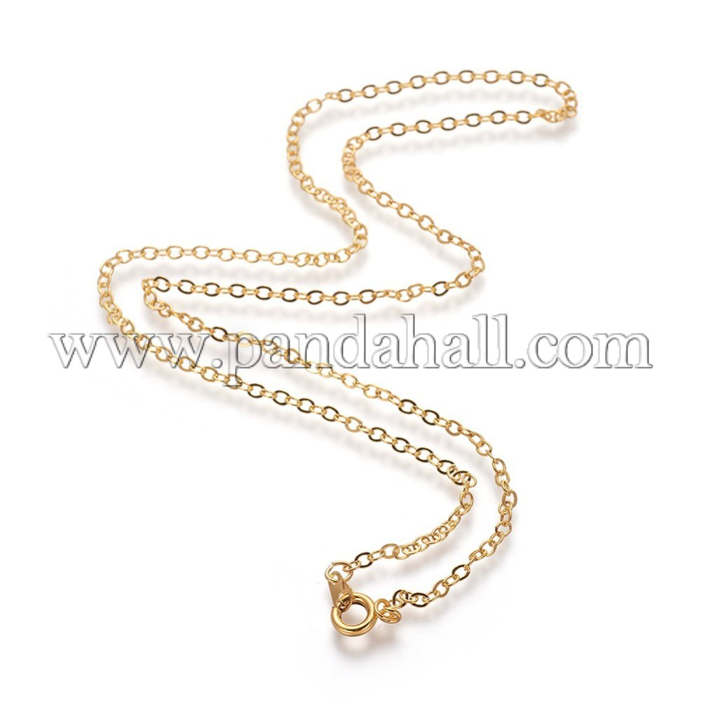 """Brass Cable Chain Necklaces With Iron Findings, Golden, 18"""" In Best And Newest Long Link Cable Chain Necklaces (View 8 of 25)"""