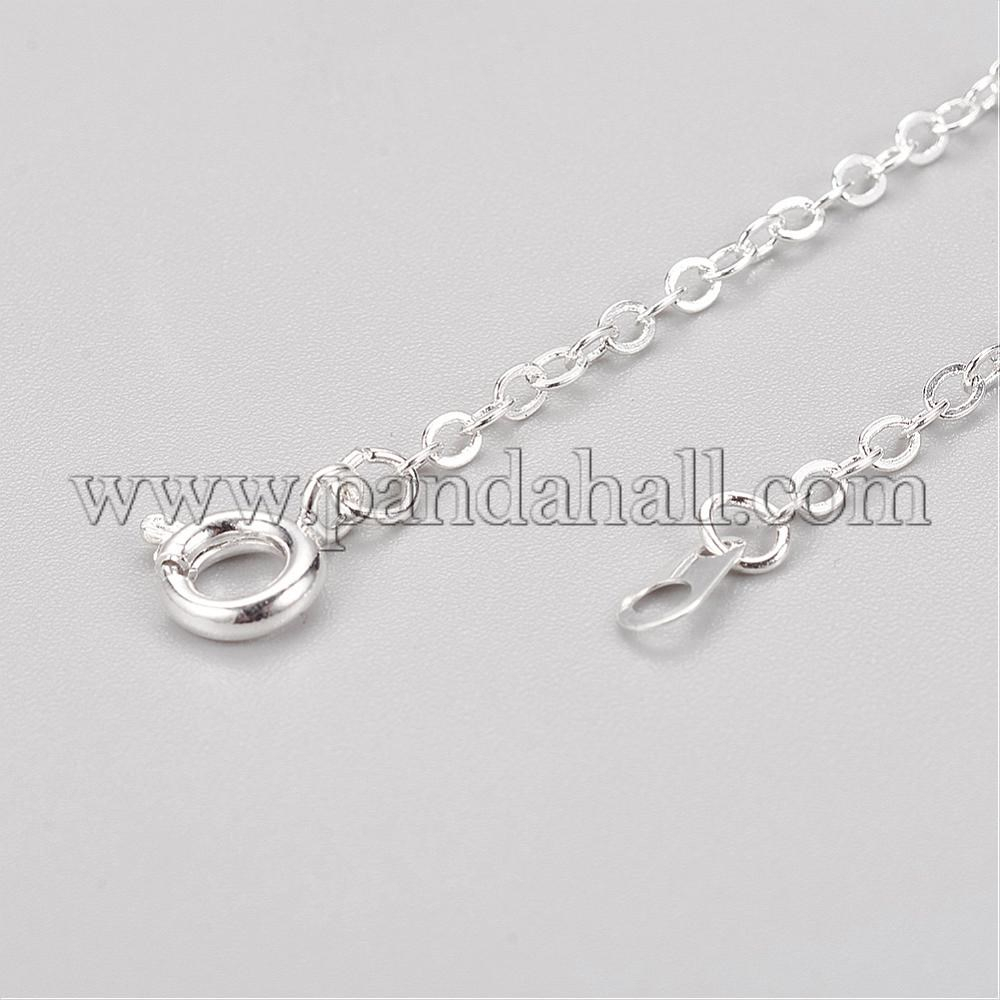 """Brass Cable Chain Necklaces With Iron Findings, Silver, 18"""" With Regard To Recent Long Link Cable Chain Necklaces (View 9 of 25)"""