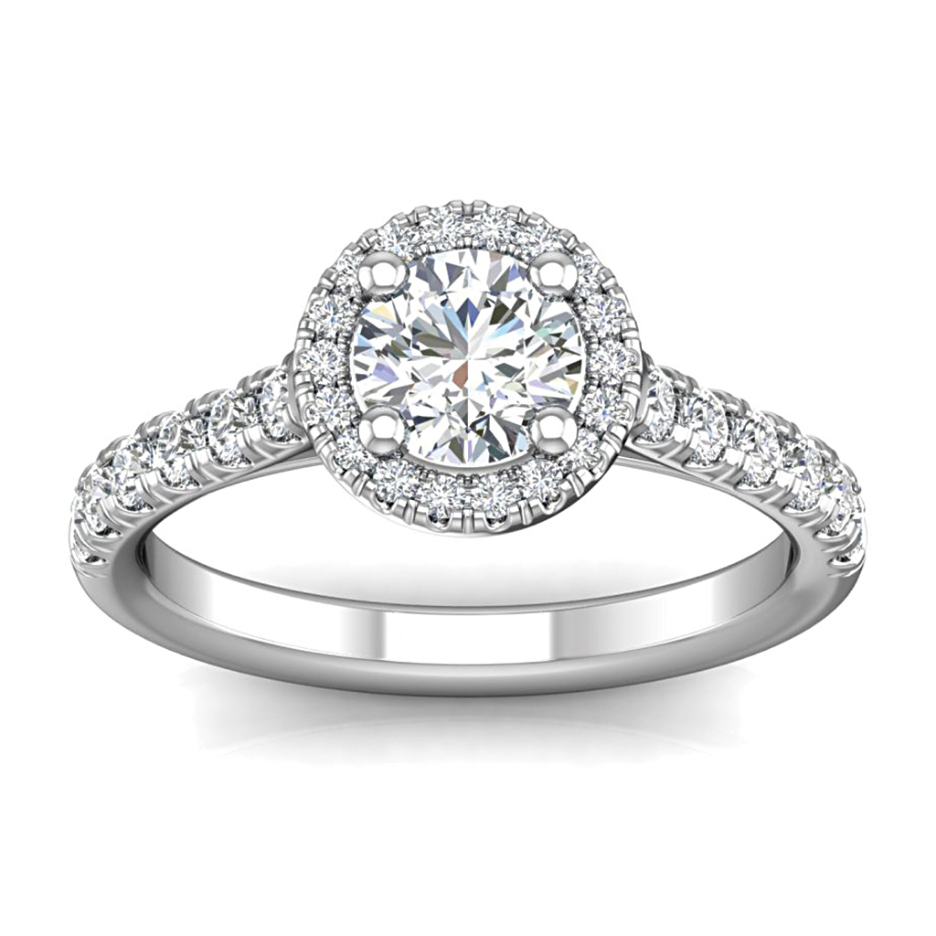 "Bremer Jewelry ""beloved"" 14k White Gold Diamond Engagement Ring Regarding 2020 Diamond Bold Five Stone Anniversary Bands In White Gold (View 10 of 25)"
