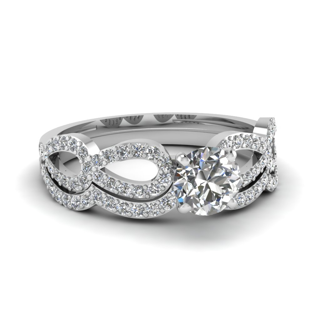 Bridal Sets – Buy Custom Designed Wedding Ring Sets Intended For Most Current Diamond Multi Triangle Anniversary Rings In White Gold (View 11 of 25)