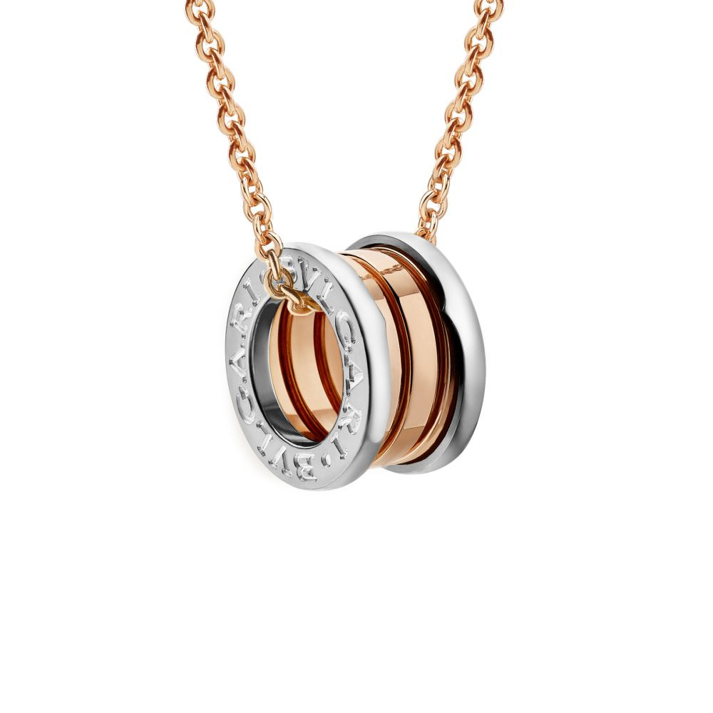 Bulgari B.zero1 Rose And White Gold Element Pendant Necklace Intended For Most Recently Released Pavé Star Locket Element Necklaces (Gallery 10 of 25)