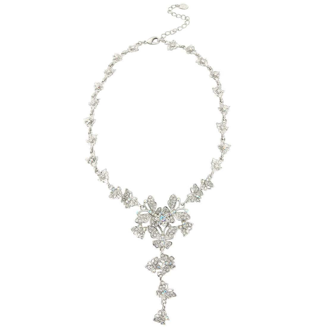 Butterflies Of Beauty Necklace Regarding 2019 Sparkling Butterfly Y  Necklaces (View 7 of 25)