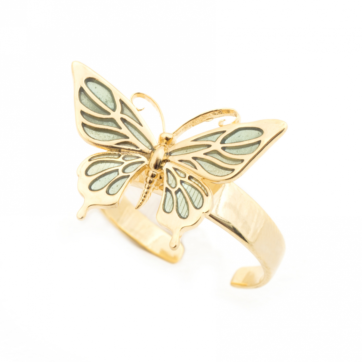 Butterfly Open Ring With Most Current Butterfly Open Rings (Gallery 3 of 25)