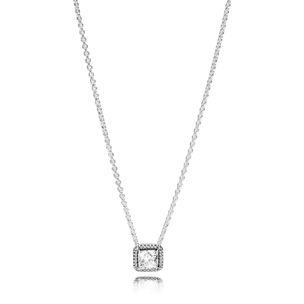 Buy Cheap Pandora Timeless Elegance Necklace,clear Cz Online Sale Intended For Latest August Droplet Pendant Necklaces (View 4 of 25)