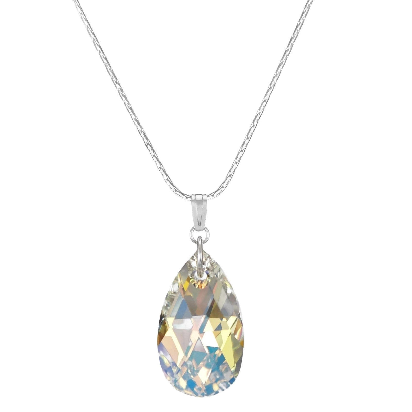 Buy Crystal, Glass & Beaded Necklaces Online At Overstock | Our Best For 2019 Multi Colored Crystal Patterns Of Frost Pendant Necklaces (Gallery 16 of 25)
