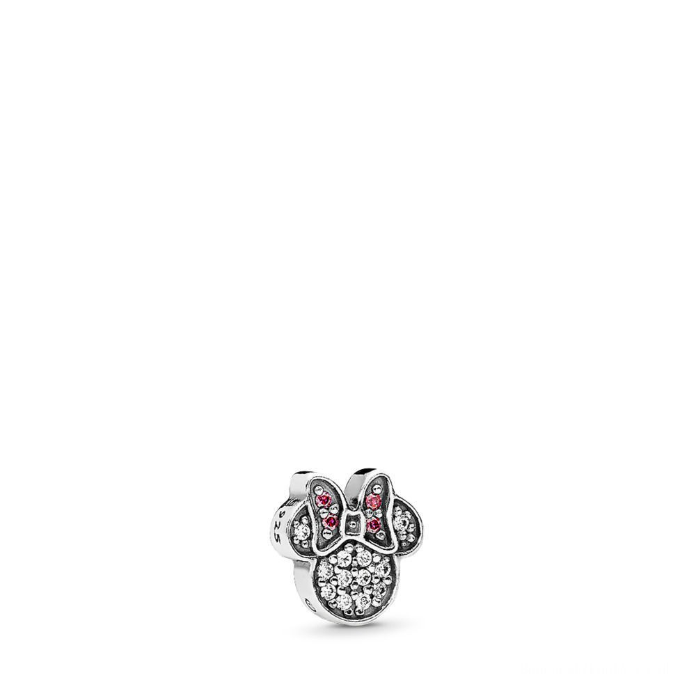 Buy Pandora Disney, Sparkling Minnie Icon Petite Locket Charm Inside Most Recent Disney Sparkling Mickey Icon Petite Locket Charm Necklaces (View 16 of 25)
