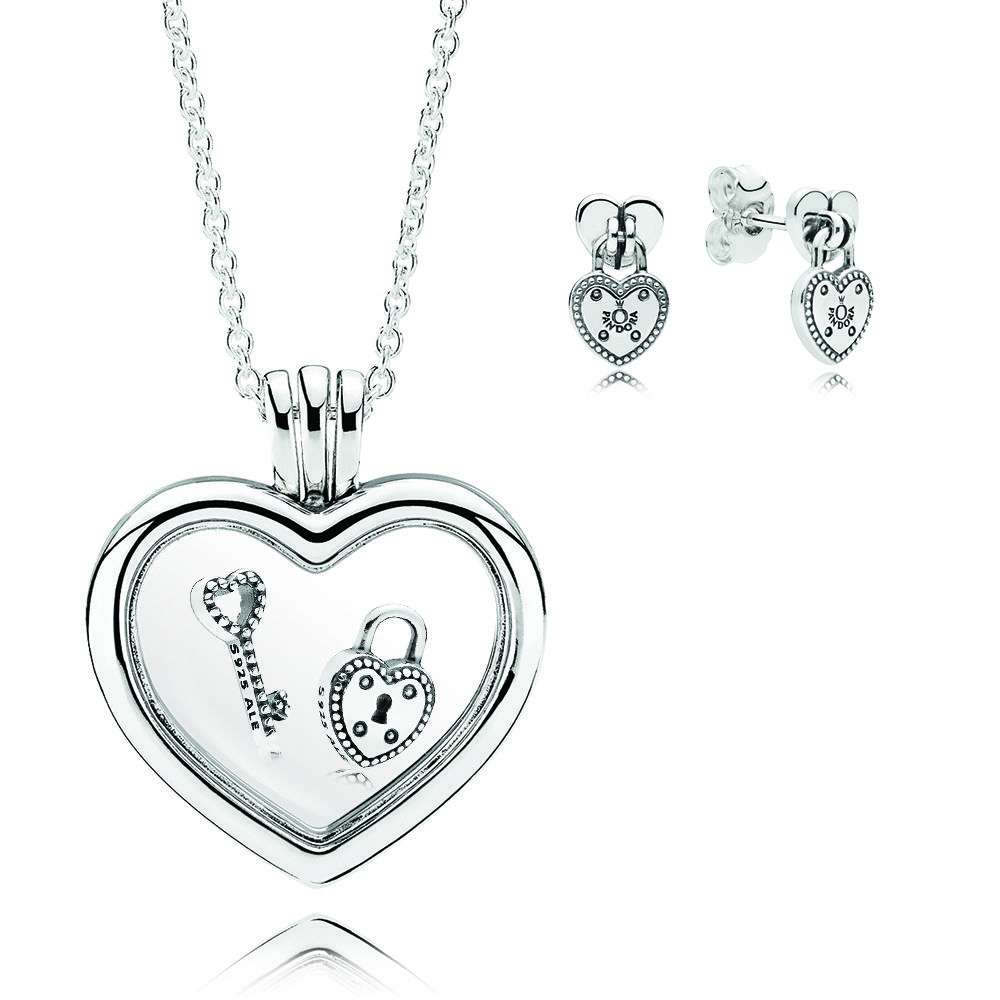 Canada Pandora Heart Shaped Necklace 60020 5ab3f With Regard To Most Current Pandora Lockets Heart Key Necklaces (View 18 of 25)