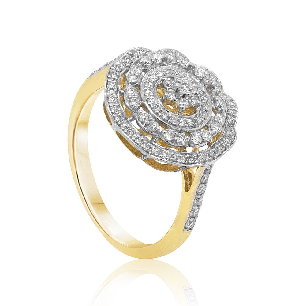 Carat Craft Sparkling Halo Diamond Ring Throughout Newest Sparkling Halo Rings (View 5 of 25)
