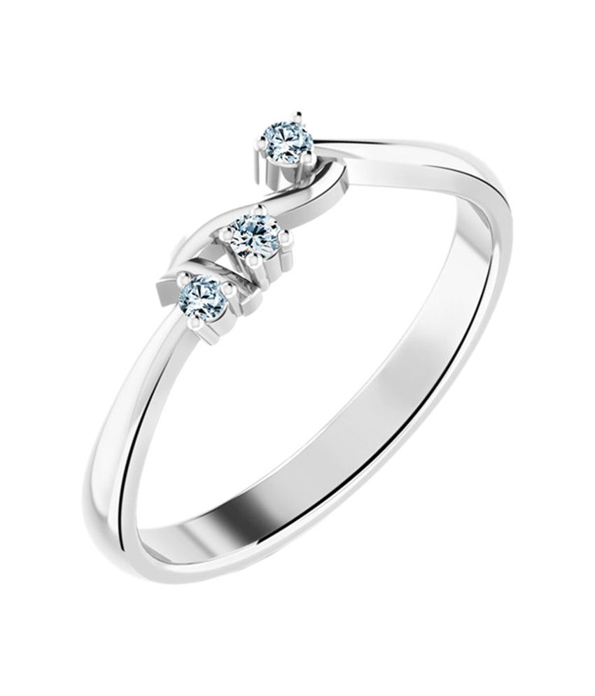 Caratlane Stylish Crown Ring: Buy Caratlane Stylish Crown Ring Intended For 2018 Black Sparkling Crown Rings (View 3 of 25)