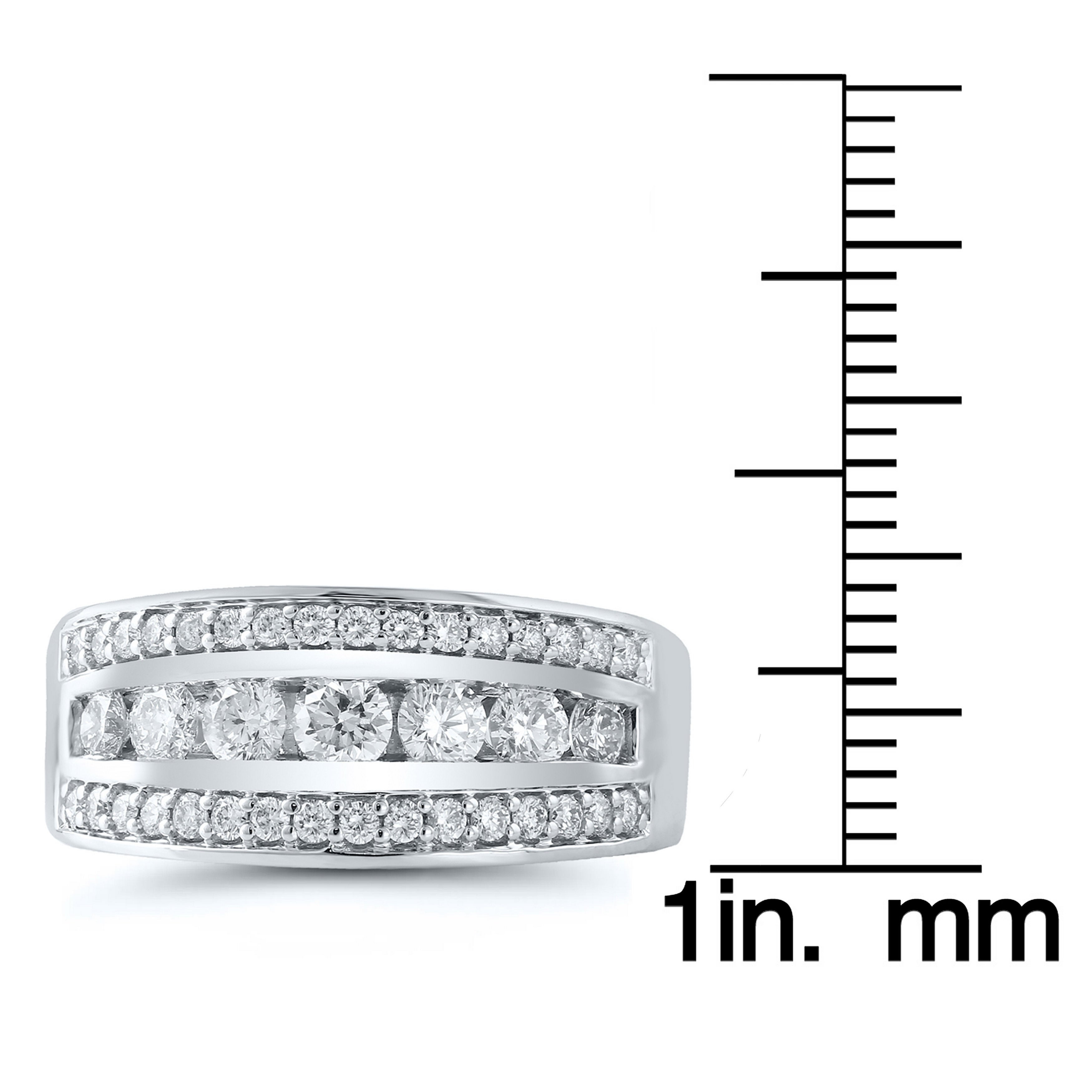 Caressa 14K White Gold 1.00 Ct.t.w (View 13 of 25)