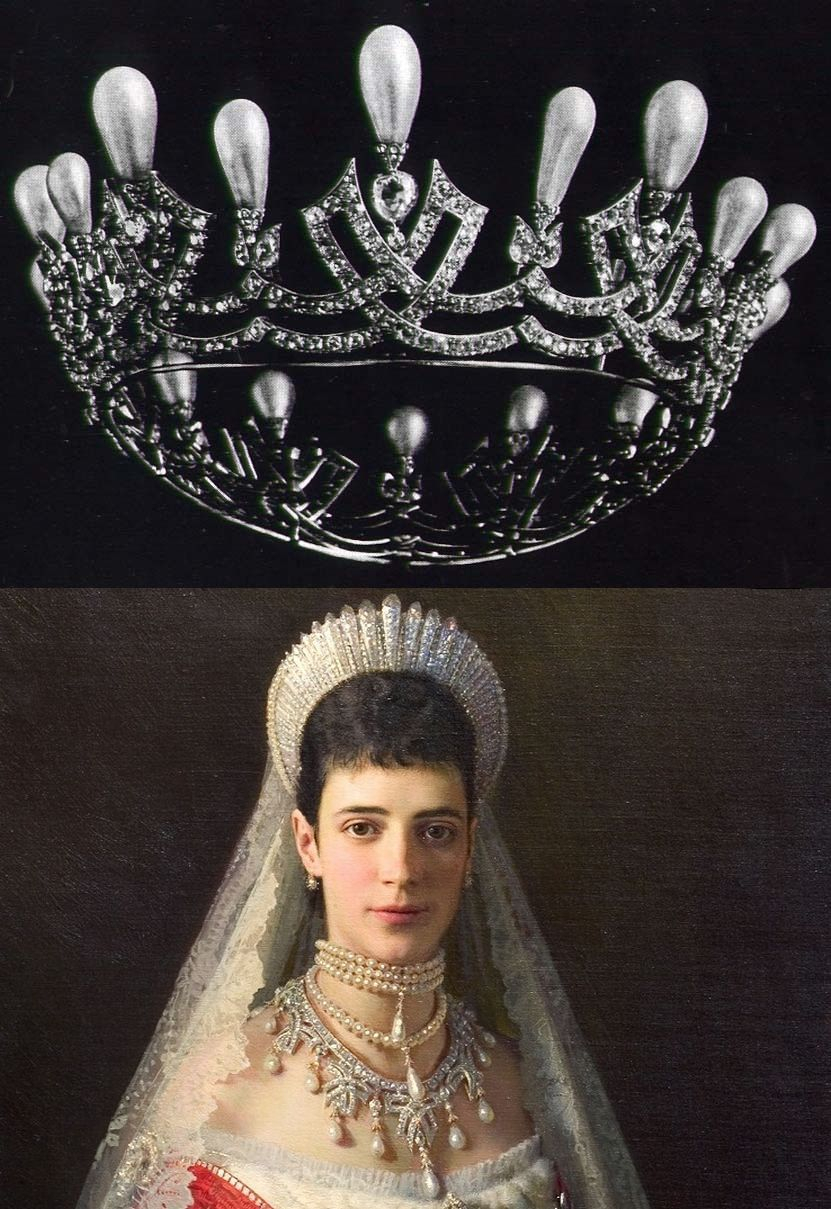 Cartier Tiara/neckless Belonging To Empress Maria Feodorivna Wife Of Within Newest Tiara Crown Collier Necklaces (View 7 of 25)