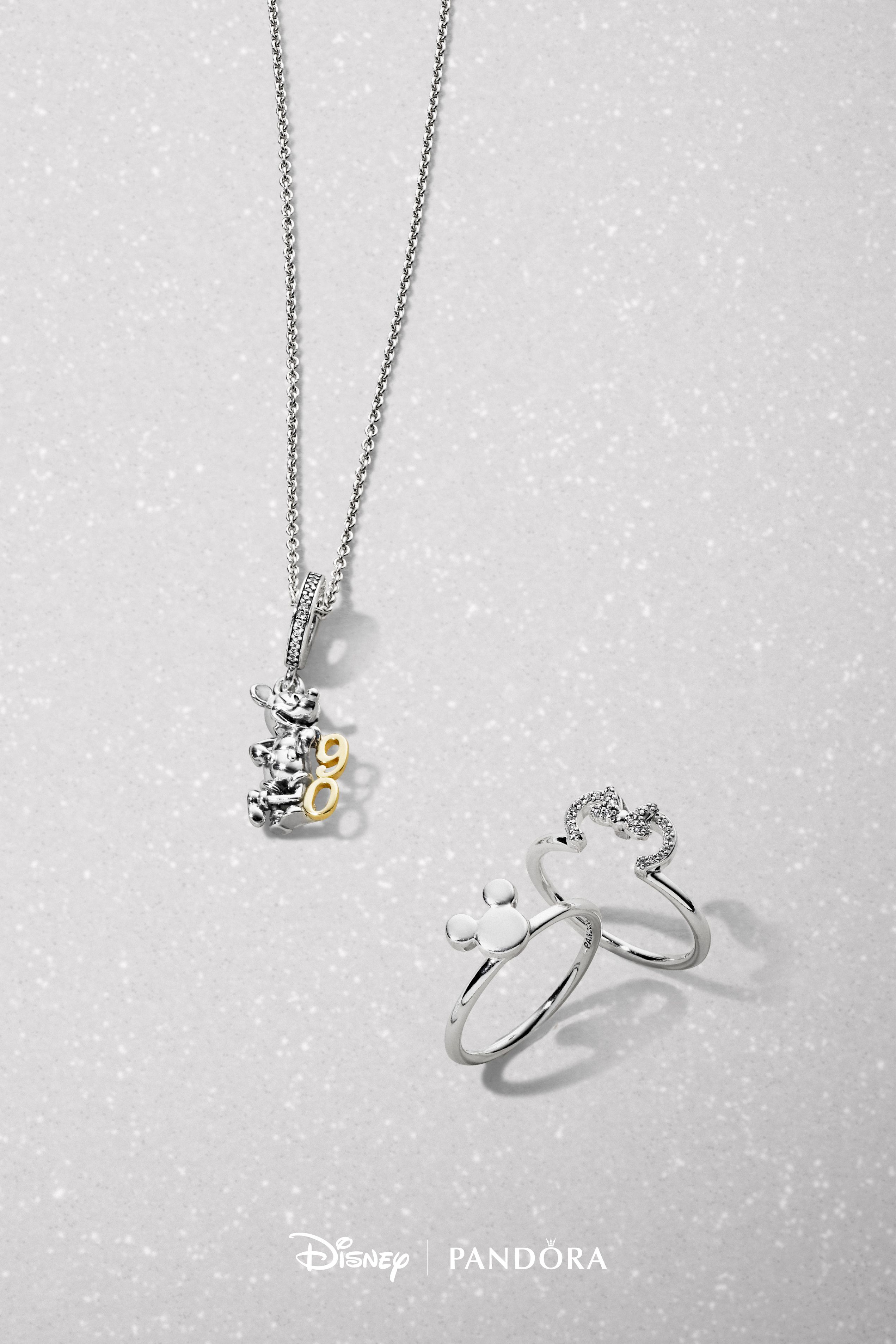 Celebrate The 90th Anniversary Of Mickey Mouse With This Exquisite Within Current Disney Sparkling Mickey Icon Petite Locket Charm Necklaces (View 18 of 25)