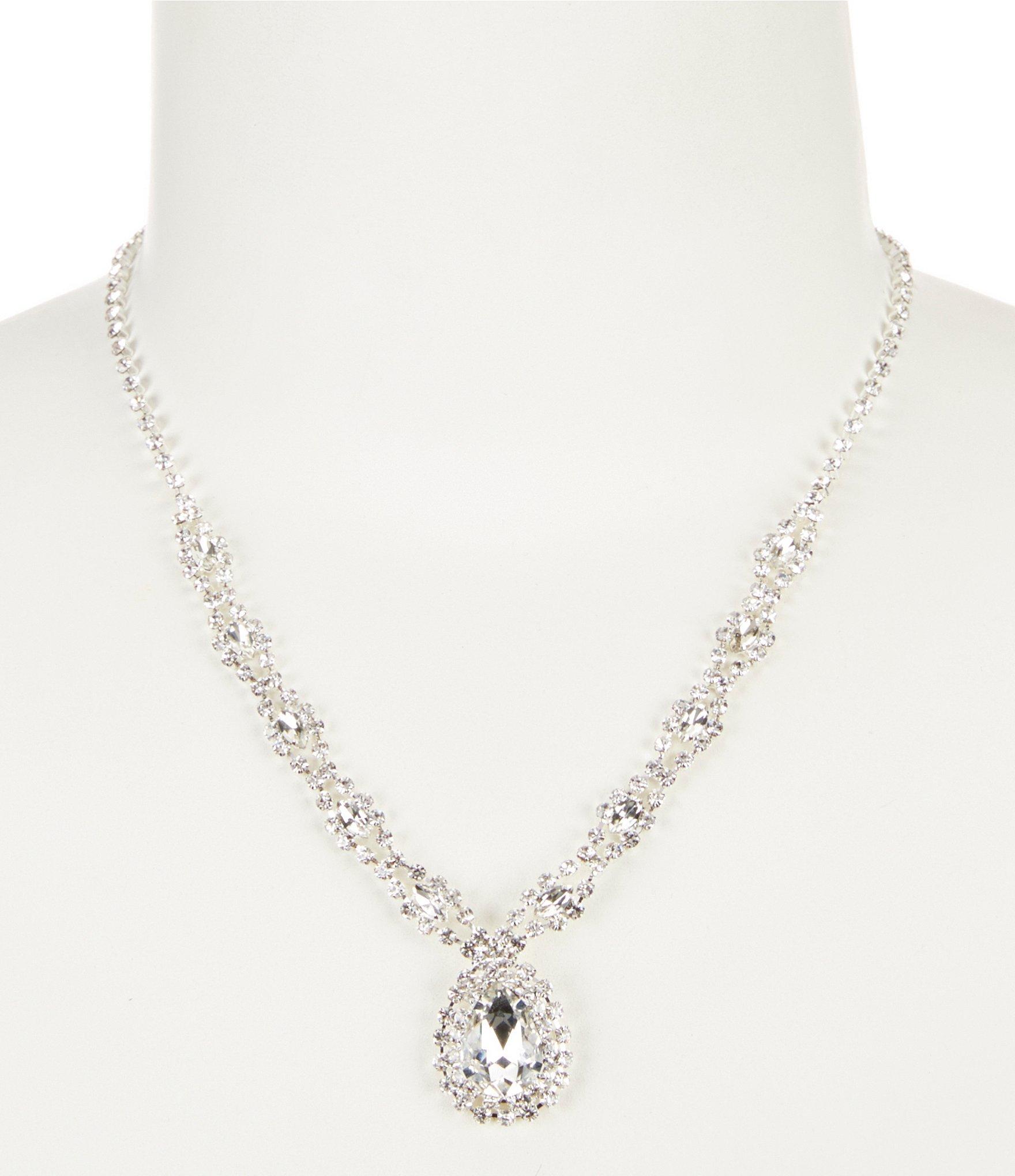 Cezanne Teardrop Weave Collar Necklace Regarding Newest Sparkling Teardrop Chandelier Pendant Necklaces (Gallery 22 of 25)