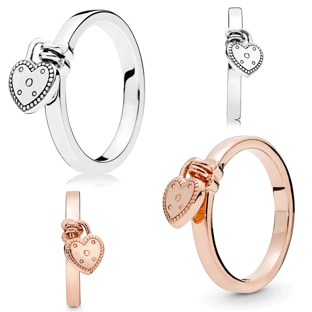 Featured Photo of Heart Shaped Padlock Rings