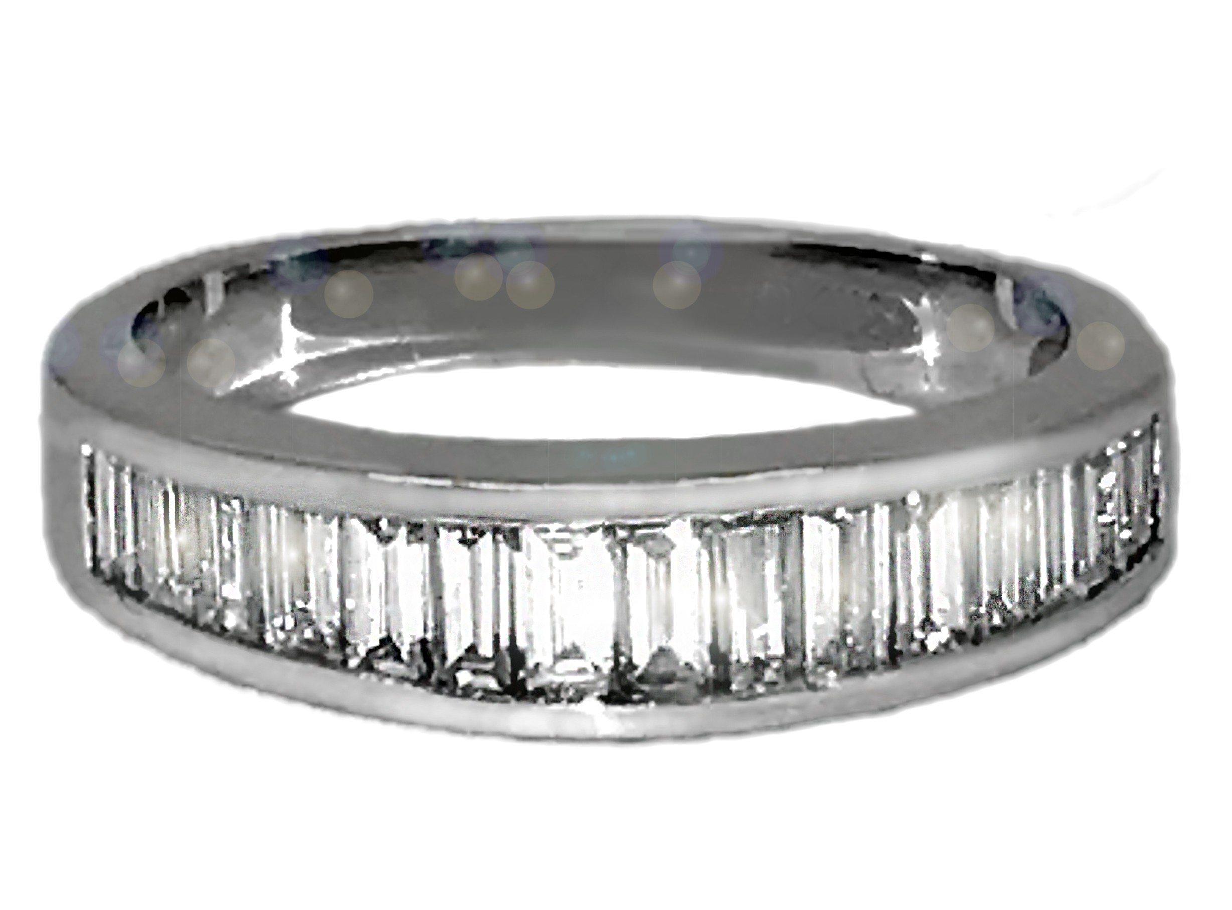 Channel Set Baguette Diamond Band In 14K White Gold (0.95 Ct.tw (View 11 of 25)
