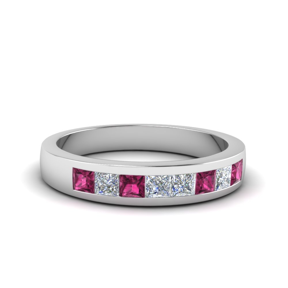 Channel Set Diamond Wedding Band In Newest Diamond Channel Set Anniversary Bands In Gold (Gallery 19 of 25)
