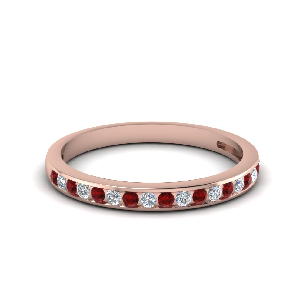Channel Set Round Diamond Band In Newest Diamond Channel Anniversary Bands In Rose Gold (View 9 of 25)