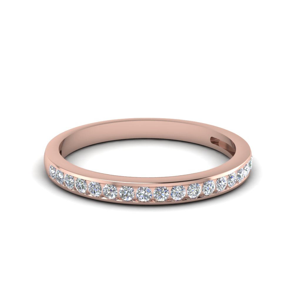 Channel Set Round Diamond Band With Most Recently Released Diamond Anniversary Bands In Rose Gold (View 9 of 25)