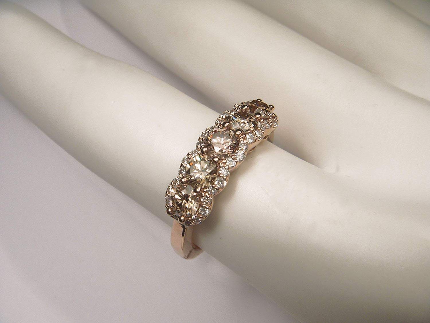 Cheap 5 Stone Diamond Anniversary Band, Find 5 Stone Diamond Inside Most Current Champagne Diamond Anniversary Bands In Rose Gold (View 17 of 25)