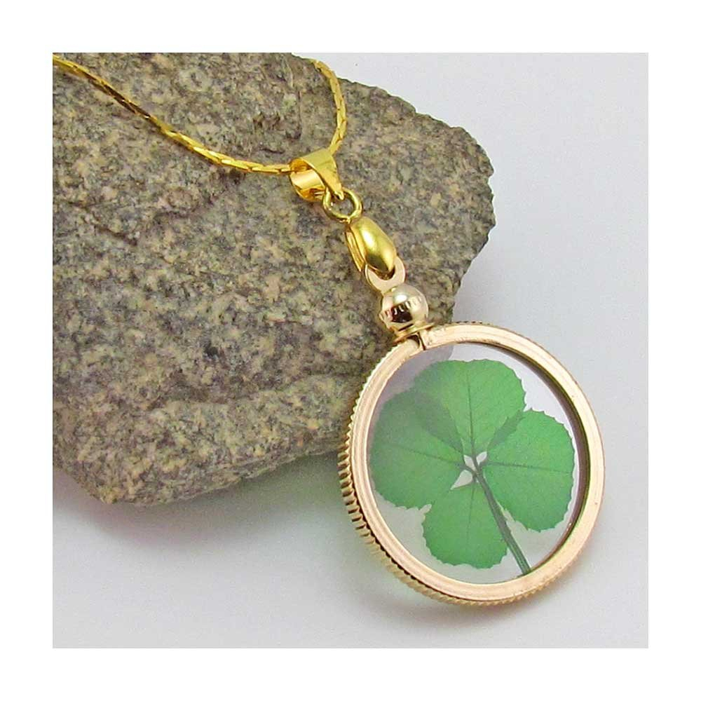 Cheap Four Leaf Clover Gold Necklace, Find Four Leaf Clover Gold Inside Current Lucky Four Leaf Clover Locket Element Necklaces (View 23 of 25)