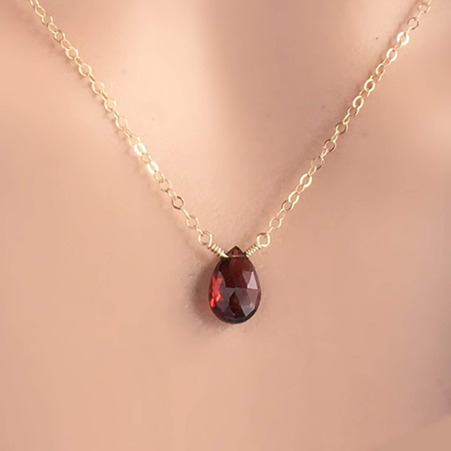 Cheap Garnet Crystal Necklace, Find Garnet Crystal Necklace Deals On For Most Recently Released Garnet Red January Birthstone Locket Element Necklaces (View 4 of 25)