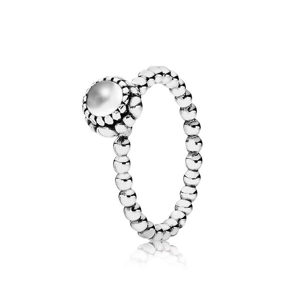 Cheap Genuine Pandora April Rock Crystal & Silver Birthstone Ring For Current Rock Crystal April Droplet Pendant Necklaces (View 6 of 25)