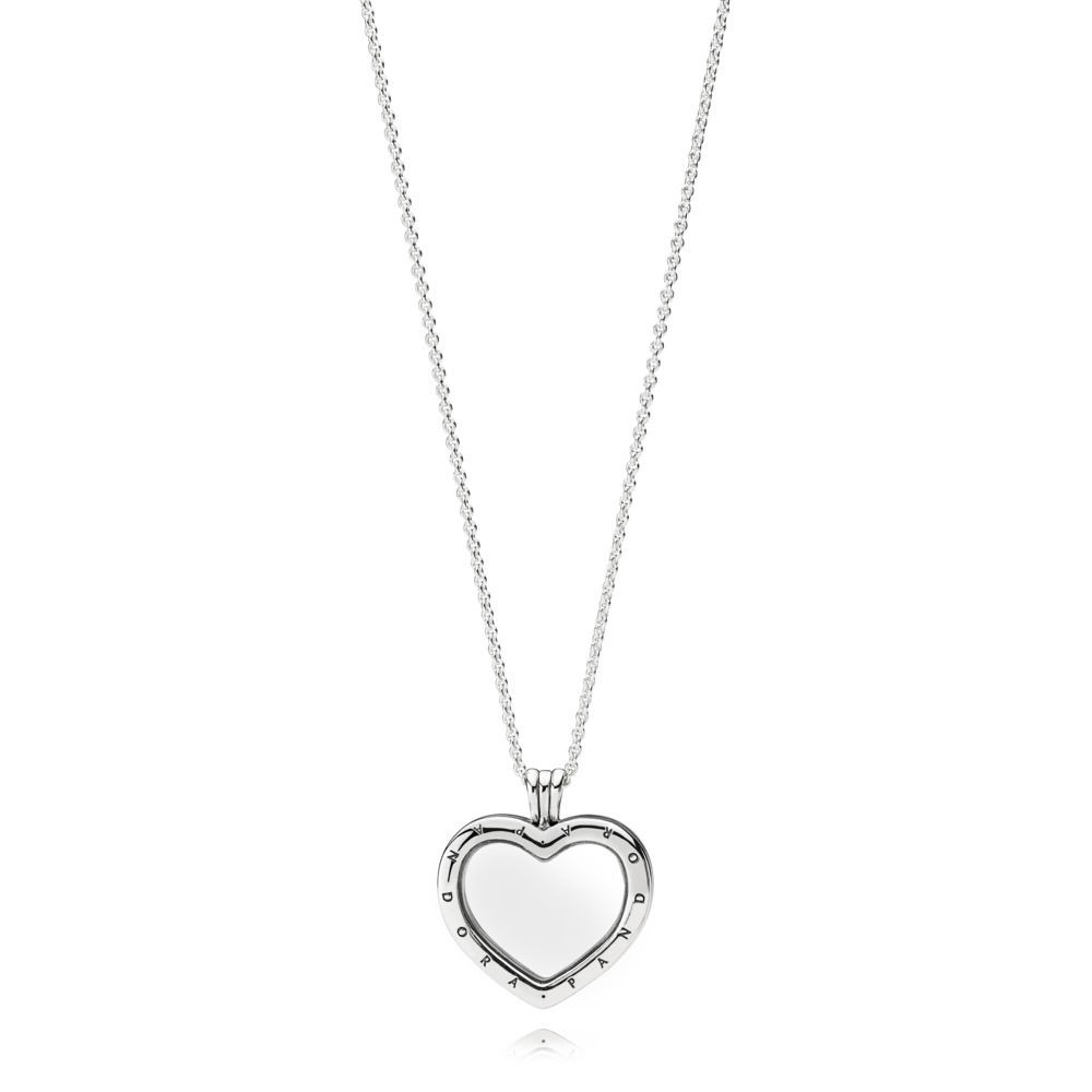 Cheap Genuine Pandora Sparkling Floating Heart Locket Necklace With In Most Current Pandora Lockets Sparkling Necklaces (View 10 of 25)