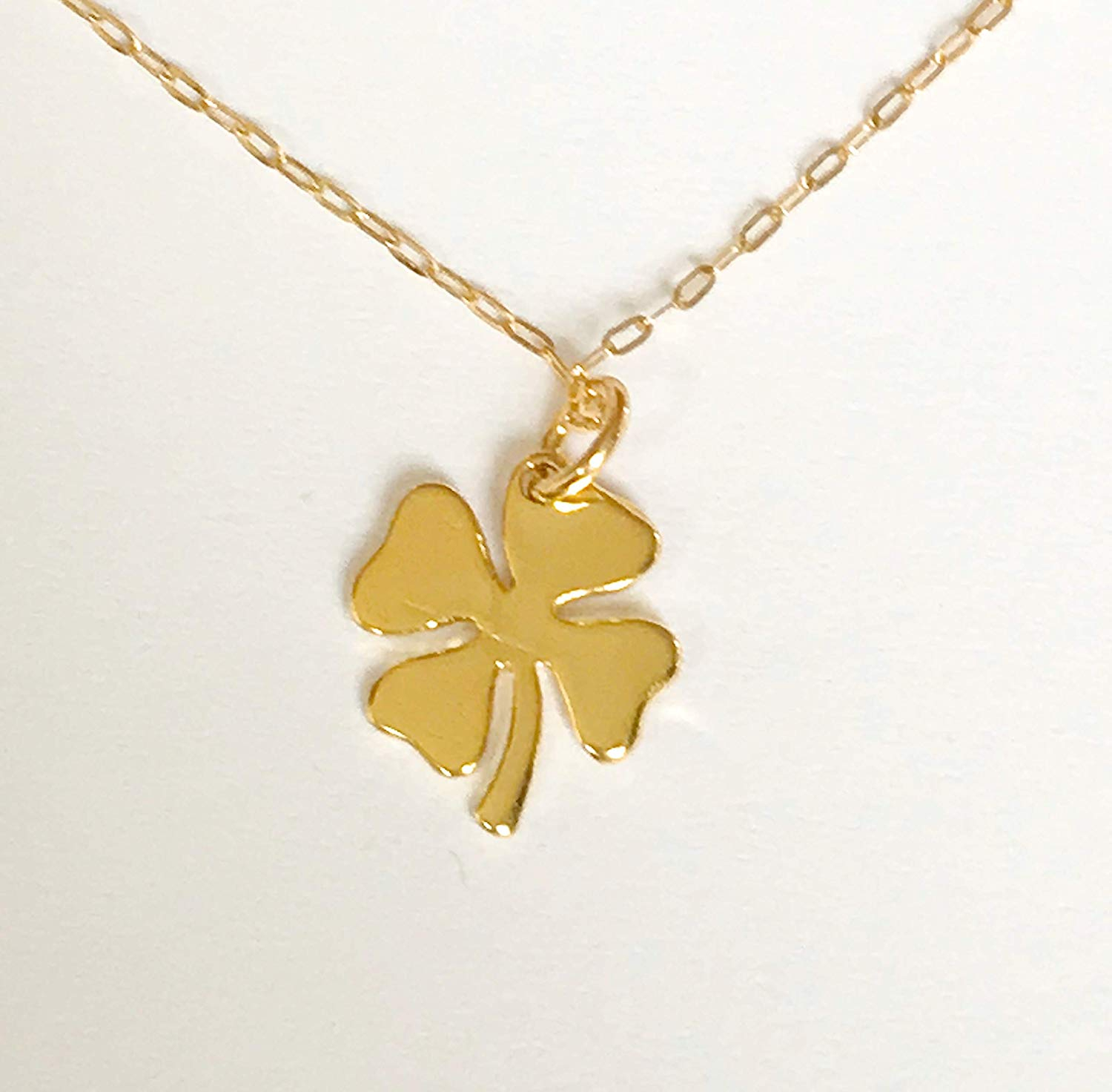Cheap Gold 4 Leaf Clover, Find Gold 4 Leaf Clover Deals On Line At Pertaining To 2019 Lucky Four Leaf Clover Dangle Charm Necklaces (View 4 of 25)