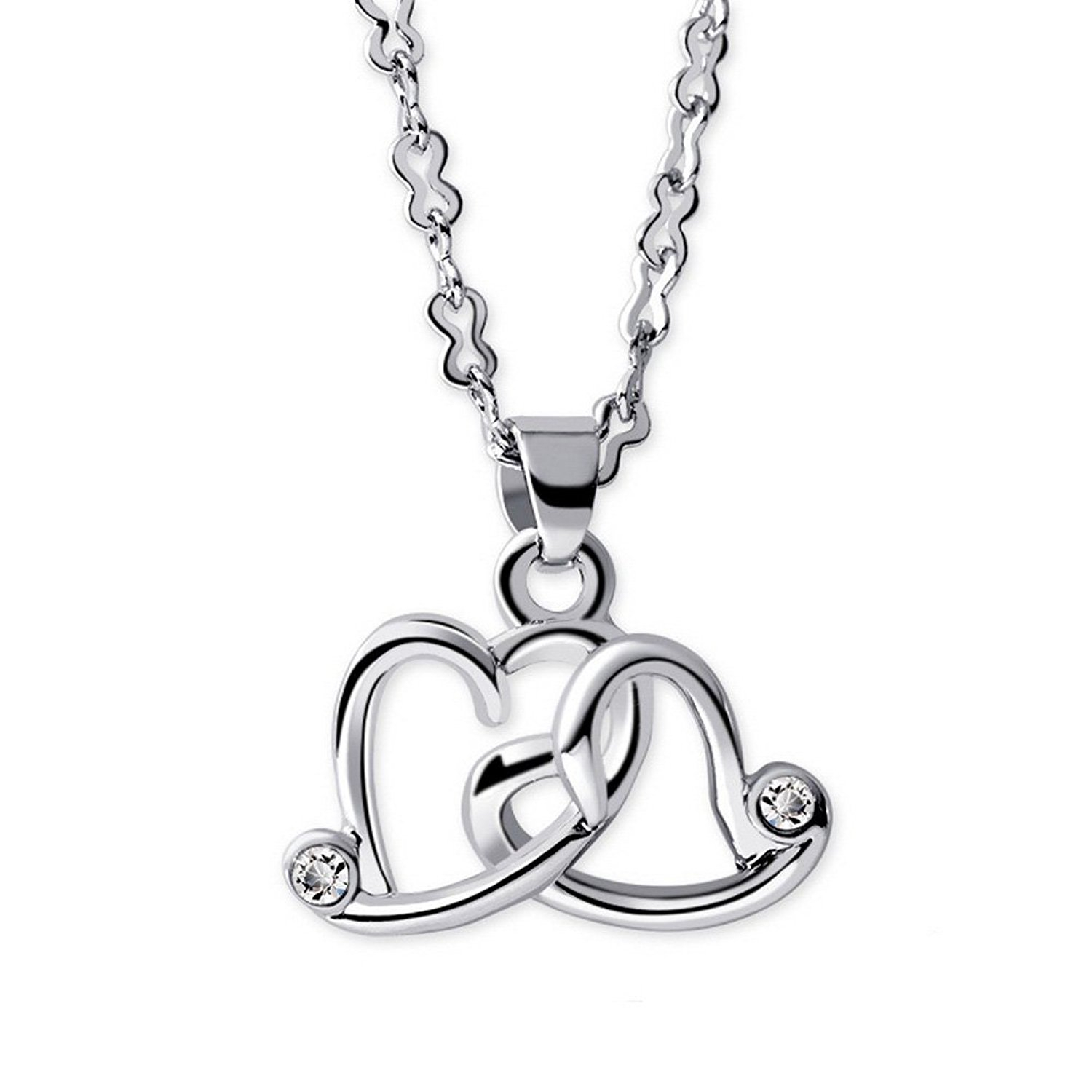 Cheap Intertwined Necklace, Find Intertwined Necklace Deals On Line With Regard To Recent Interlocked Hearts Locket Element Necklaces (View 2 of 25)