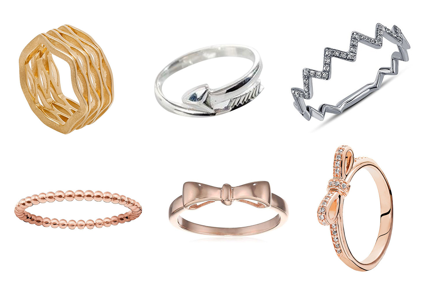 Cheap Pandora Rings 2019 | The Sun Uk Within 2017 Wheat Grains Wishbone Rings (View 10 of 25)
