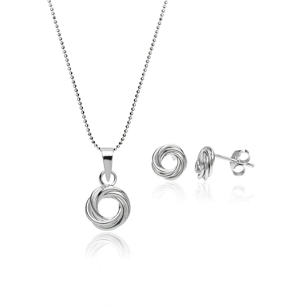 Cheap Silver Love Knot Necklace, Find Silver Love Knot Necklace Pertaining To Best And Newest Shimmering Knot Locket Element Necklaces (View 9 of 25)