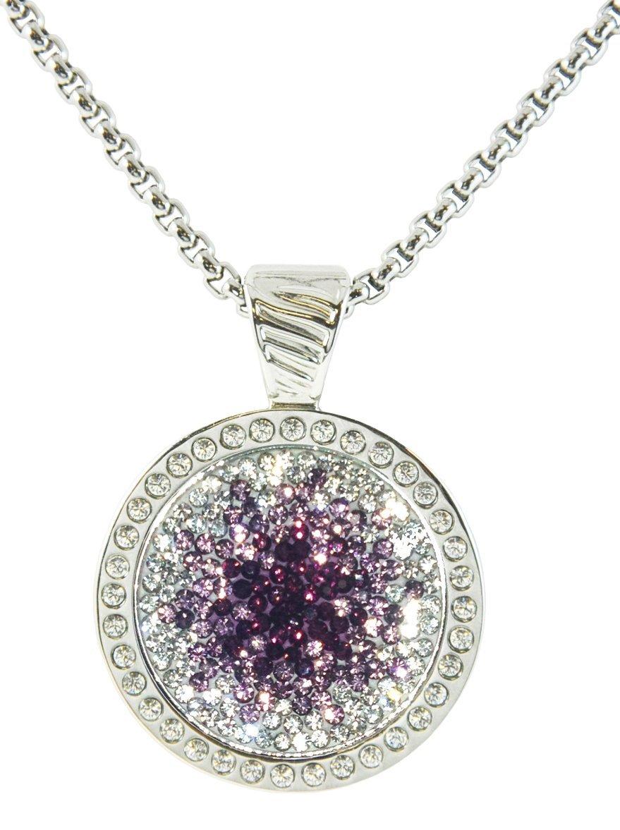 Cheap Swarovski Purple Necklace, Find Swarovski Purple Necklace With Regard To Current Pavé Angel Wing Locket Element Necklaces (View 7 of 25)