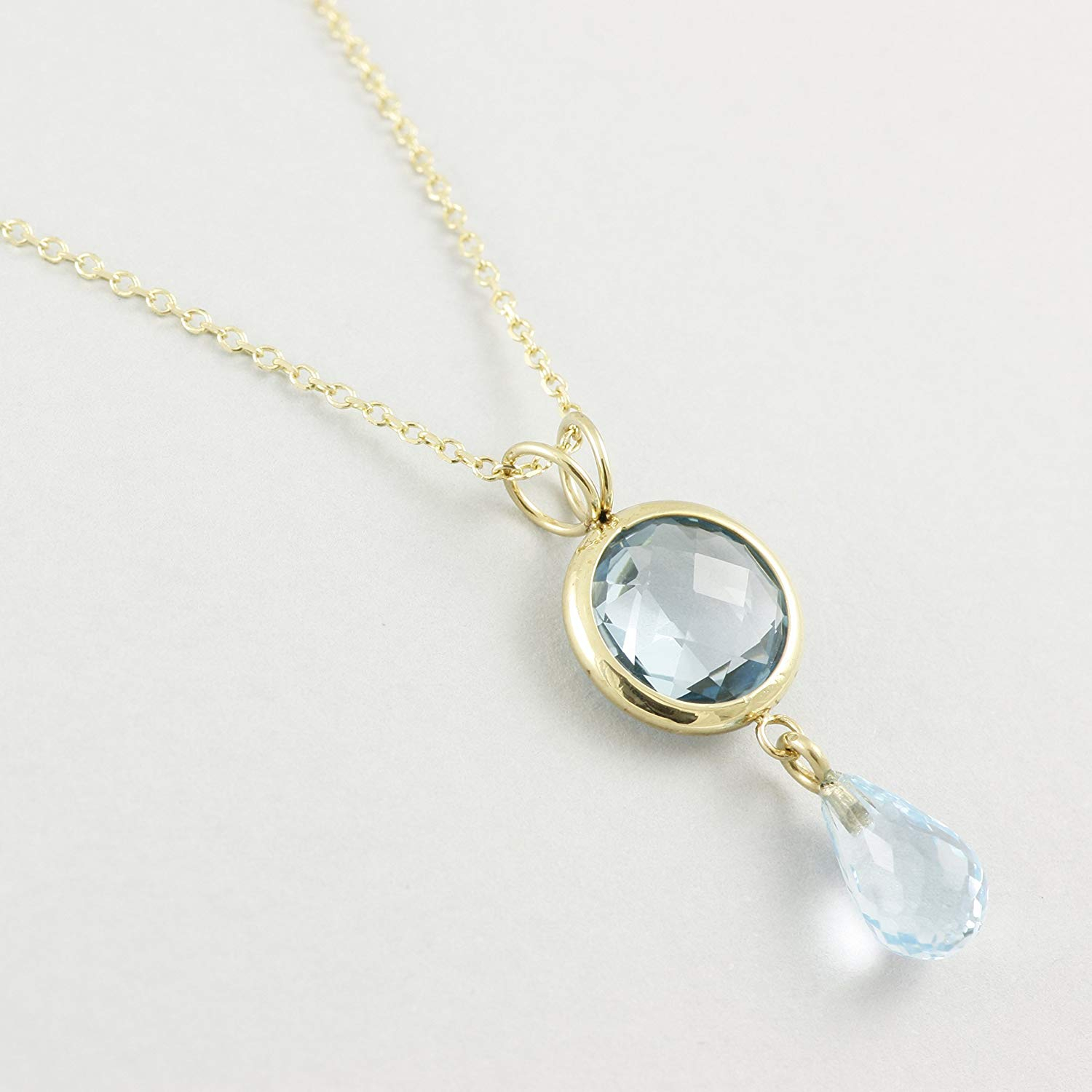 Cheap Topaz Gold Necklace, Find Topaz Gold Necklace Deals On Line At Throughout Most Popular London Blue December Birthstone Locket Element Necklaces (View 4 of 25)