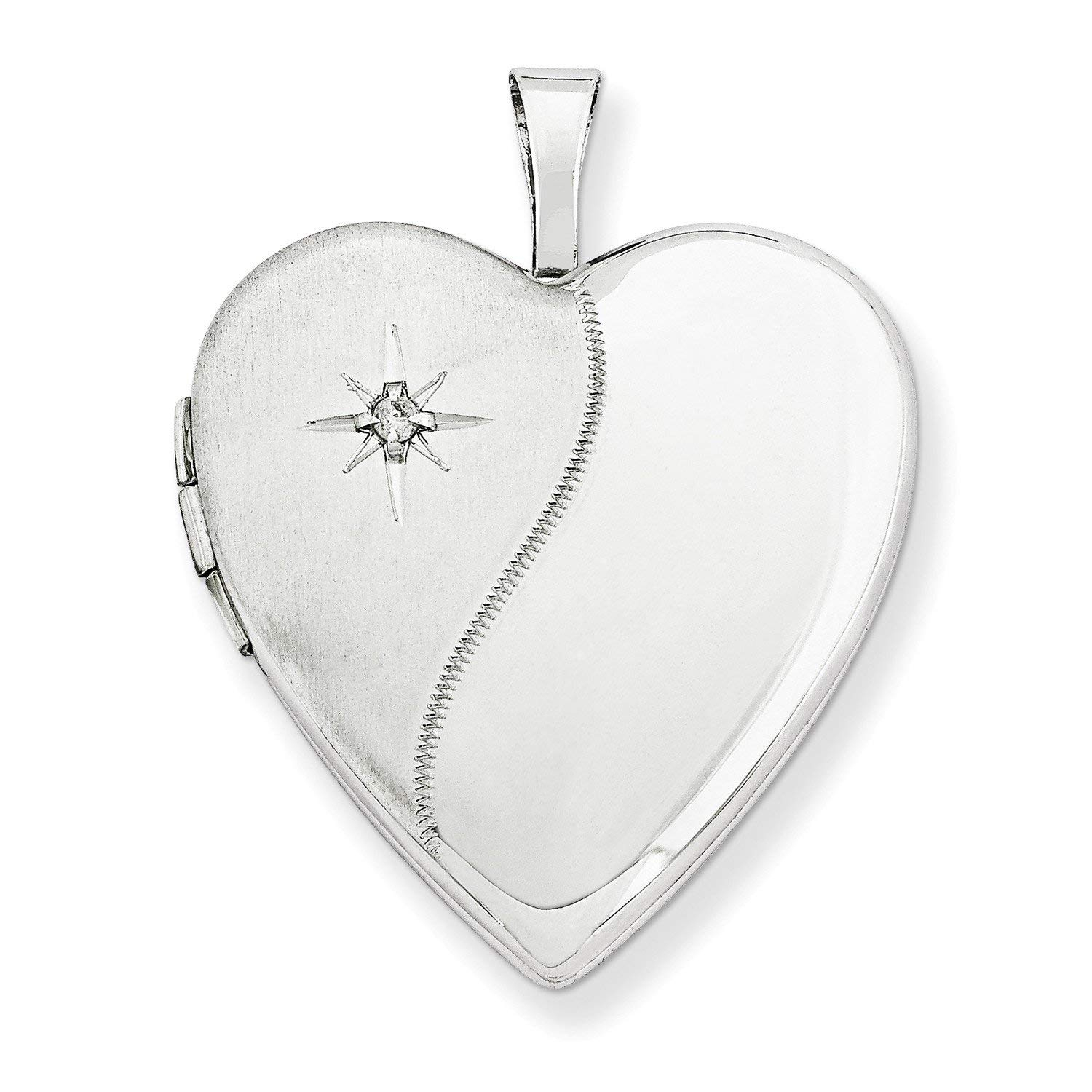 Cheap White Gold Diamond Heart Locket, Find White Gold Diamond Heart Inside Best And Newest Interlocked Hearts Locket Element Necklaces (View 3 of 25)
