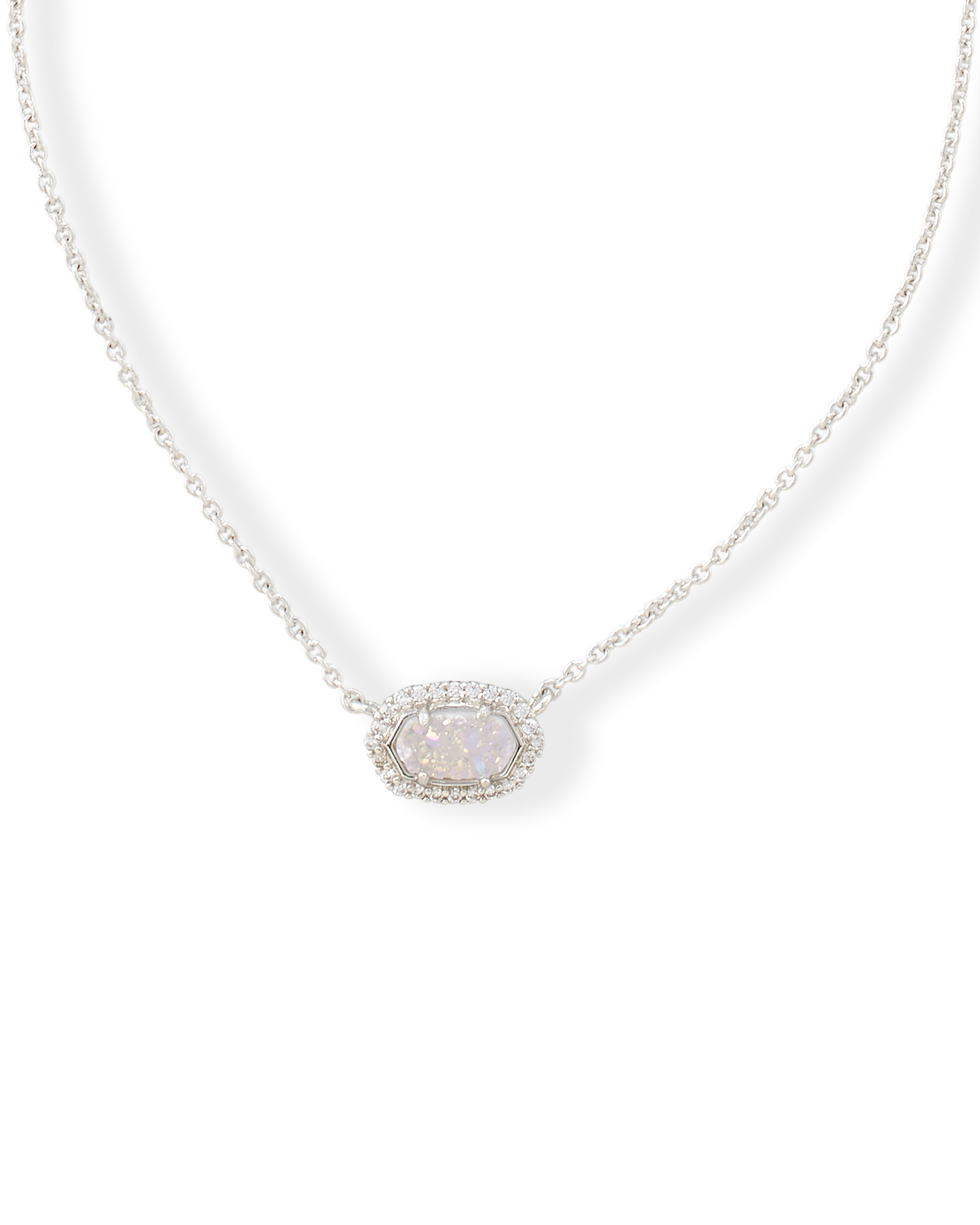 Chelsea Pendant Necklace In Silver – Kendra Scott Weddings For Best And Newest Oval Sparkle Halo Pendant Necklaces (View 4 of 25)