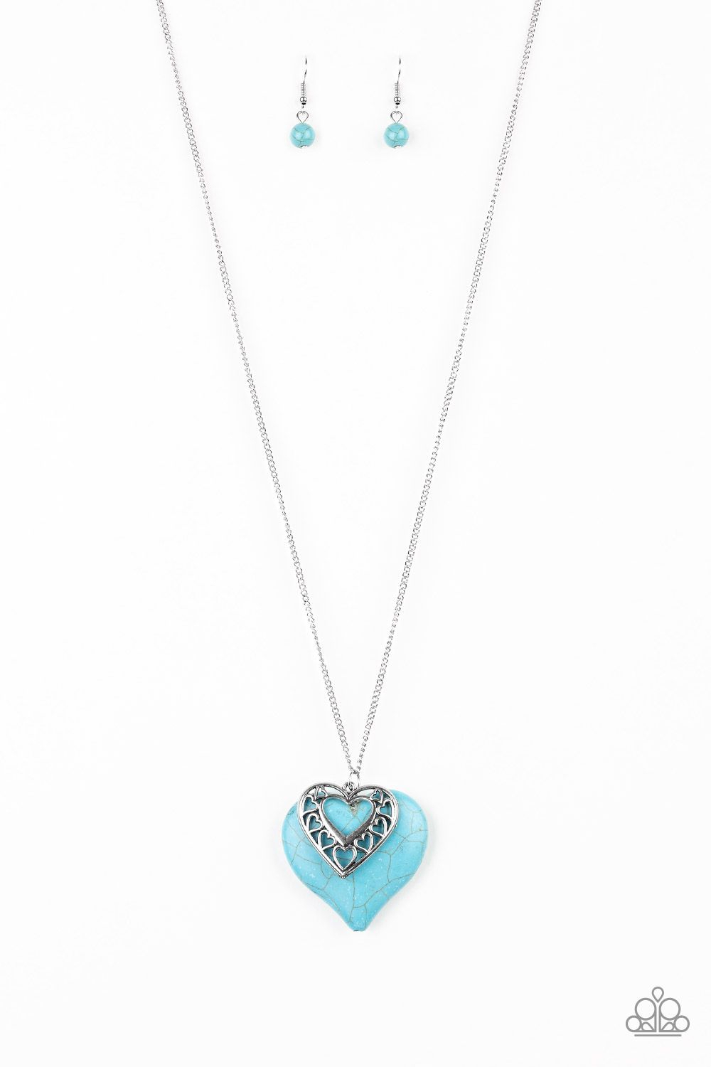 Chiseled Into A Flirtatious Heart Shape, A Refreshing Turquoise For Most Recent Ornate Hearts Tassel Necklaces (View 4 of 25)