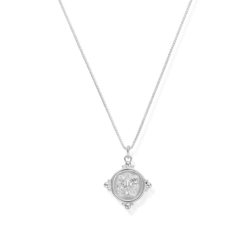 Chlobo Sndb851 Women's Silver Lioness Signet Necklace Pertaining To Most Recent Sparkling Lioness Heart Pendant Necklaces (View 7 of 25)