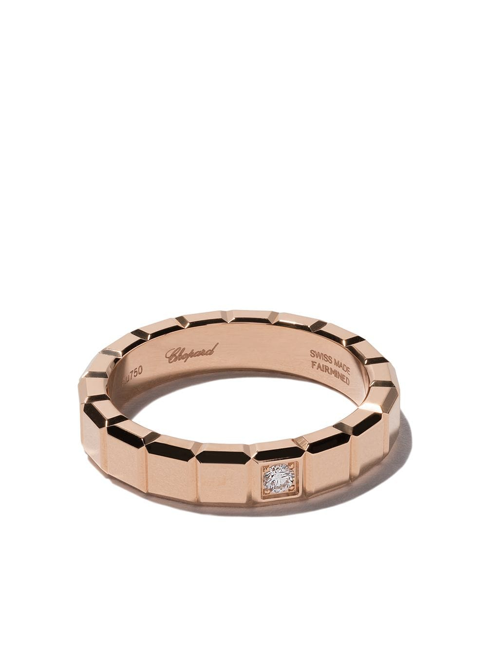 Chopard 18Kt Rose Gold Ice Cube Diamond Ring $1,590 – Buy Online Within Newest Sparkling Ice Cube Rings (View 3 of 25)