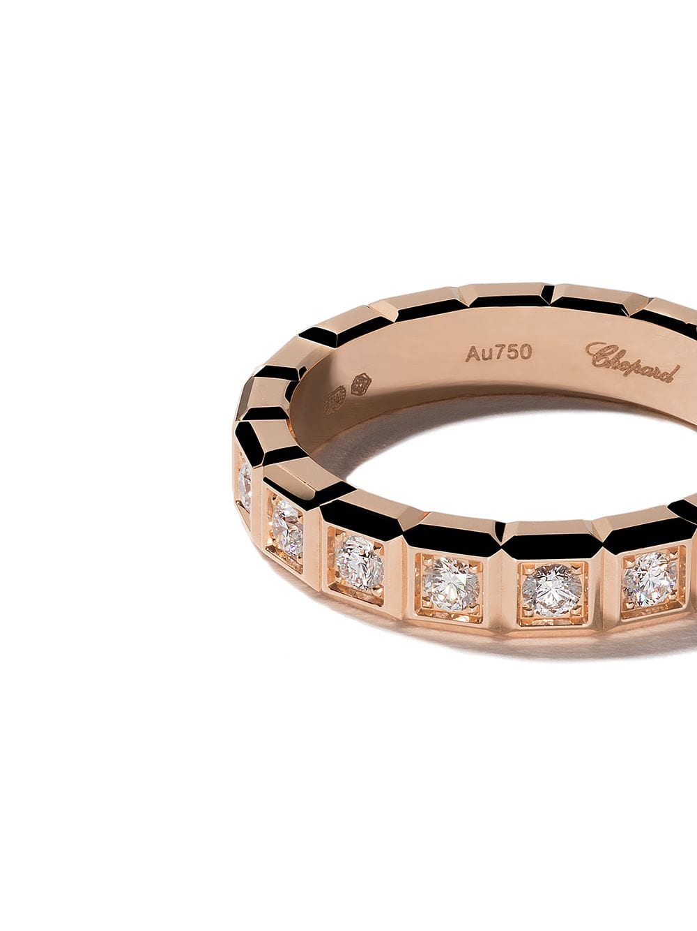 Chopard 18Kt Rose Gold Ice Cube Diamond Ring $3,320 – Buy Aw19 In Best And Newest Sparkling Ice Cube Rings (View 4 of 25)